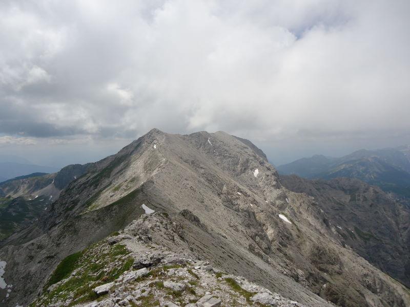 Foto: Günter Siegl / Wander Tour / Gratwanderung über den Hochmölbing zum Schrocken  / Gratverlauf Richtung Hochmölbing / 02.08.2013 21:43:15