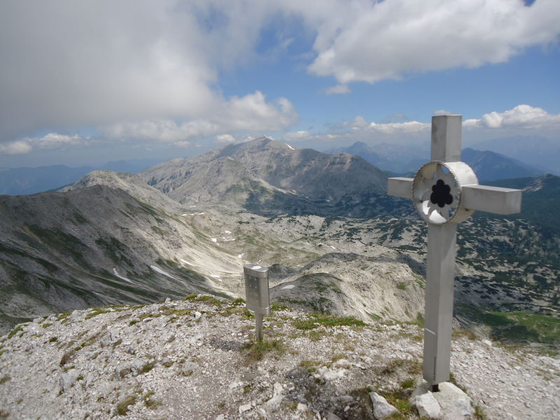 Foto: Günter Siegl / Wander Tour / Gratwanderung über den Hochmölbing zum Schrocken  / Kaminspitze / 02.08.2013 21:43:05