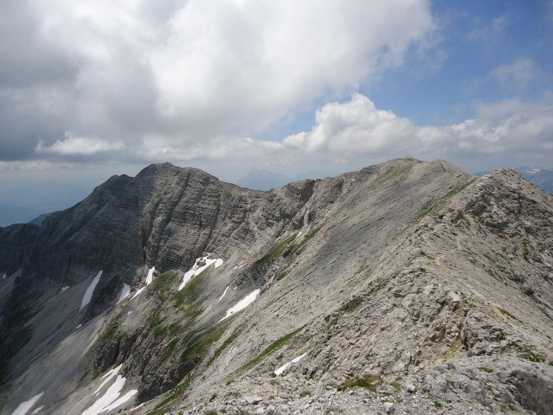 Foto: Günter Siegl / Wander Tour / Gratwanderung über den Hochmölbing zum Schrocken  / Gratverlauf Kreuzspitze - Hochmölbing / 02.08.2013 21:42:56