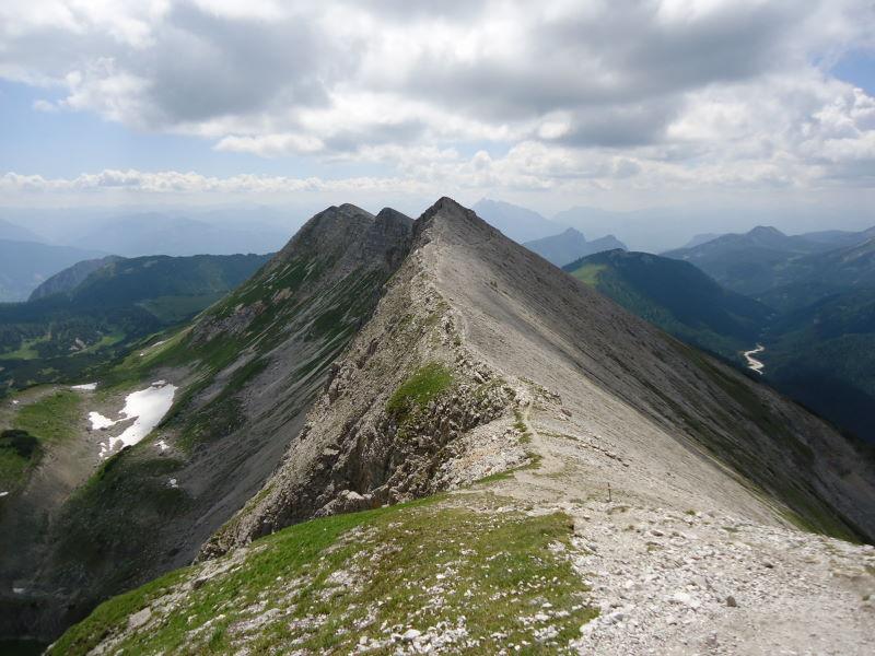 Foto: Günter Siegl / Wander Tour / Gratwanderung über den Hochmölbing zum Schrocken  / Gratverlauf Kleinmölbing / 02.08.2013 21:42:32