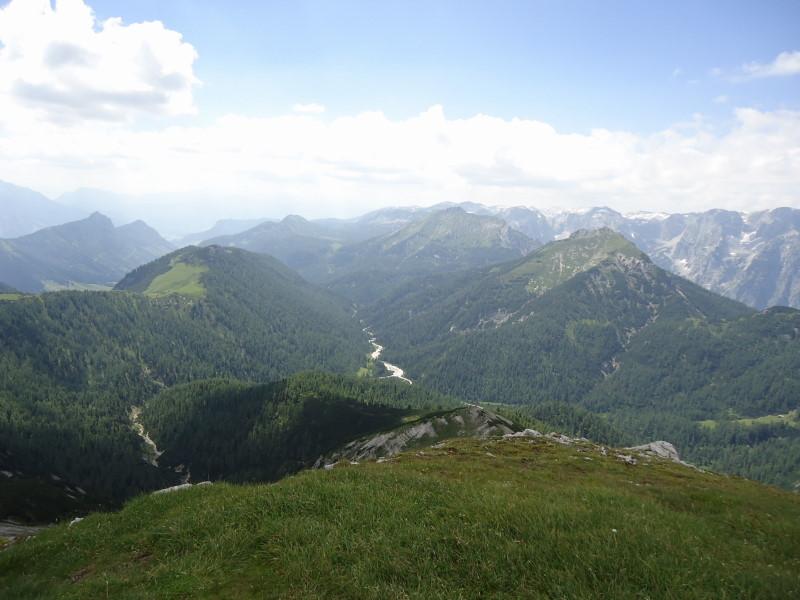 Foto: Günter Siegl / Wander Tour / Gratwanderung über den Hochmölbing zum Schrocken  / Blick zum Grimminboden / 02.08.2013 21:41:55