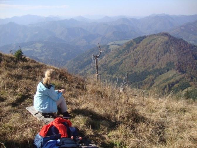 Foto: Wolfgang Dröthandl / Wander Tour / Über die Ennser Hütte auf den Almkogel / Blick nach Westen / 16.10.2018 14:41:21