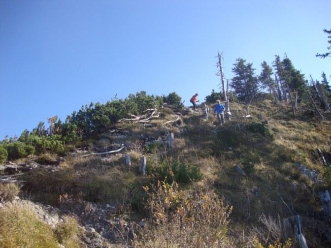 Foto: Wolfgang Dröthandl / Wander Tour / Über die Ennser Hütte auf den Almkogel / 'Schlüsselstelle' am Gipfelkamm / 16.10.2018 14:38:22