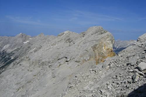 Foto: Thomas Paschinger / Wandertour / Kleiner und Großer Bettelwurf / am Weg vom Großen Bettelwurf zurück zum Kleinen / 25.07.2009 13:57:37