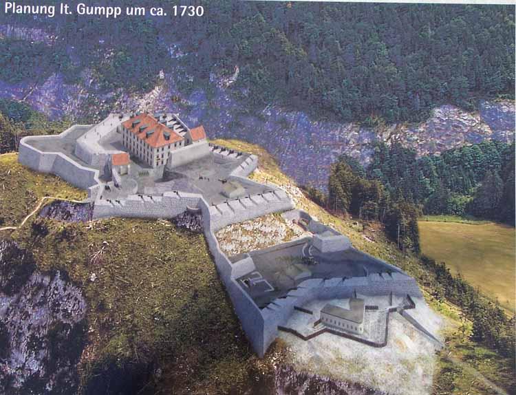 Foto: tomy37 / Wander Tour / Burgenrunde hoch über dem Talkessel von Reutte / Infotafel / 19.08.2009 18:53:39