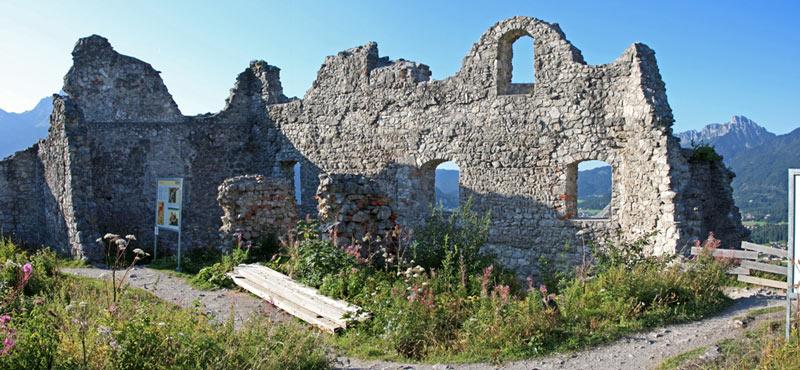 Foto: tomy37 / Wander Tour / Burgenrunde hoch über dem Talkessel von Reutte / Ruine Ehrenberg / 19.08.2009 18:48:24