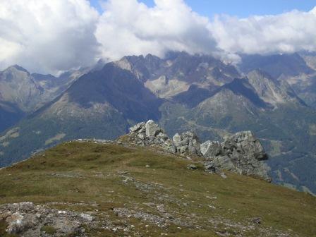 Foto: Wolfgang Dröthandl / Wander Tour / Vom Sadnighaus auf den Mohar / Gipfelblick Richtung Westen zur Schobergruppe / 29.08.2015 18:57:15