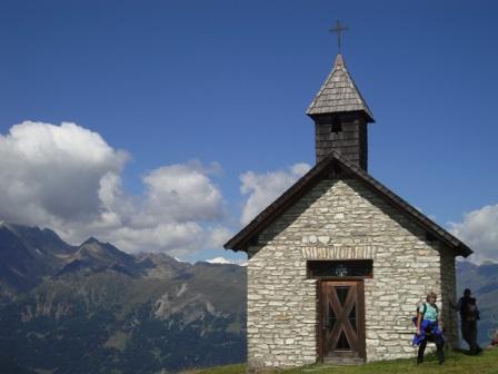 Foto: Wolfgang Dröthandl / Wander Tour / Vom Sadnighaus auf den Mohar / Kapelle St. Antonius beim Gh. Glocknerblick / 29.08.2015 18:49:01