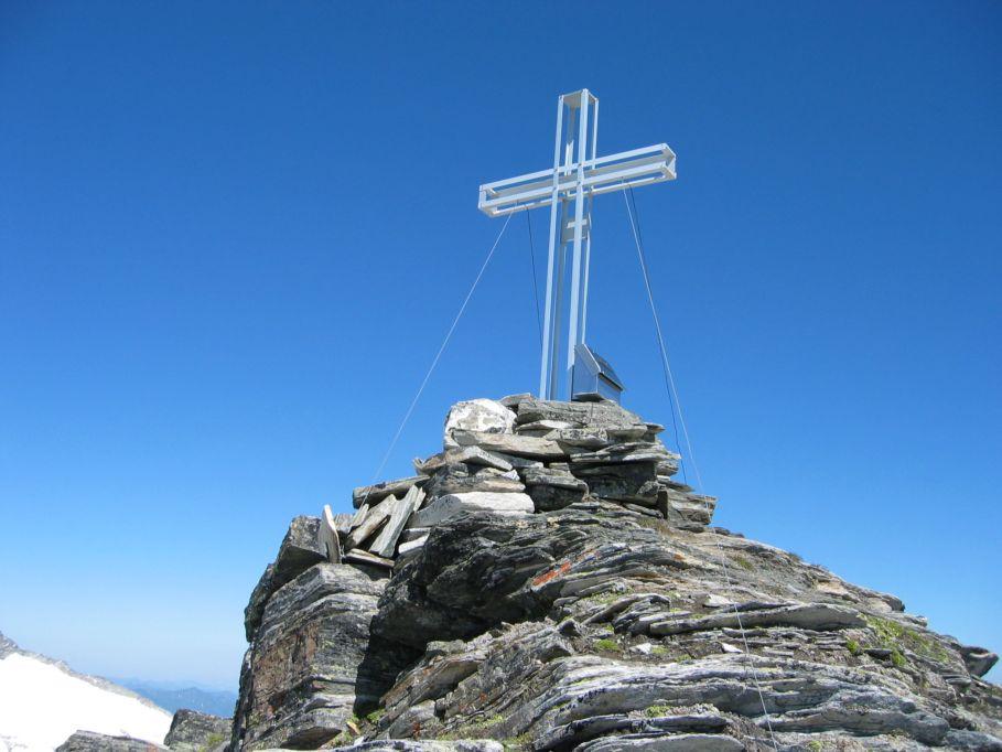 Foto: Gernot Huber / Wander Tour / Mittleres Schwarzhorn / Gipfelkreuz Mittleres Schwarzhorn / 05.03.2010 21:08:28