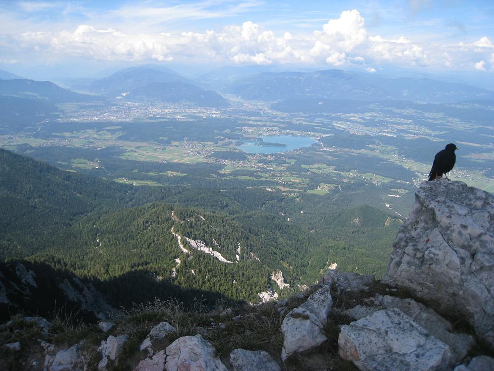 Foto: Martin Liga / Wander Tour / Über die Bertahütte auf den Mittagskogel / Gipfelkreuz Mittagskogel. / 31.08.2008 11:57:56