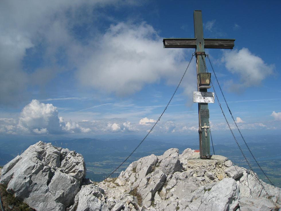 Foto: Martin Liga / Wander Tour / Über die Bertahütte auf den Mittagskogel / Ostgratkreuz am Mittagskogel. / 31.08.2008 12:00:00