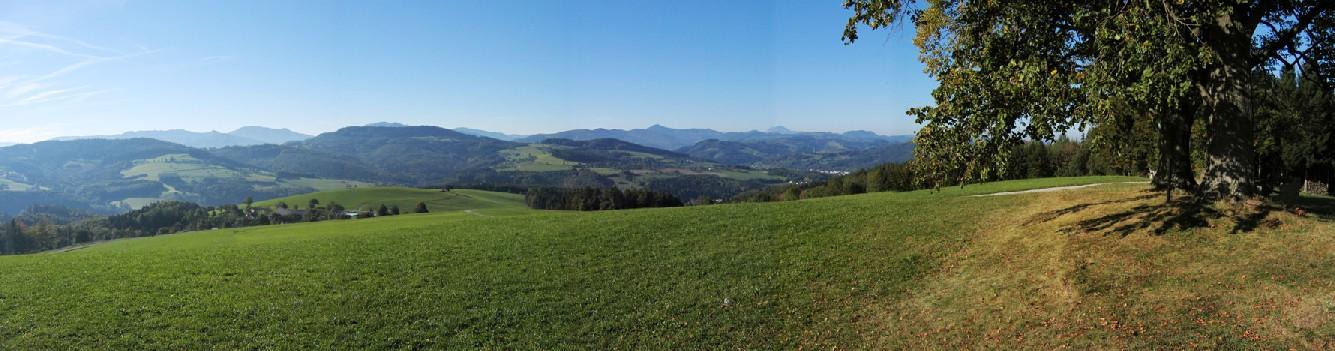 Foto: Climber69 / Wander Tour / Höhenrundwanderung über Rudolfshöhe und Steinwandleiten / Beim Pavillion kurz vor der Ochsenburger Hütte mit Ötscherblick / 28.12.2007 22:05:58