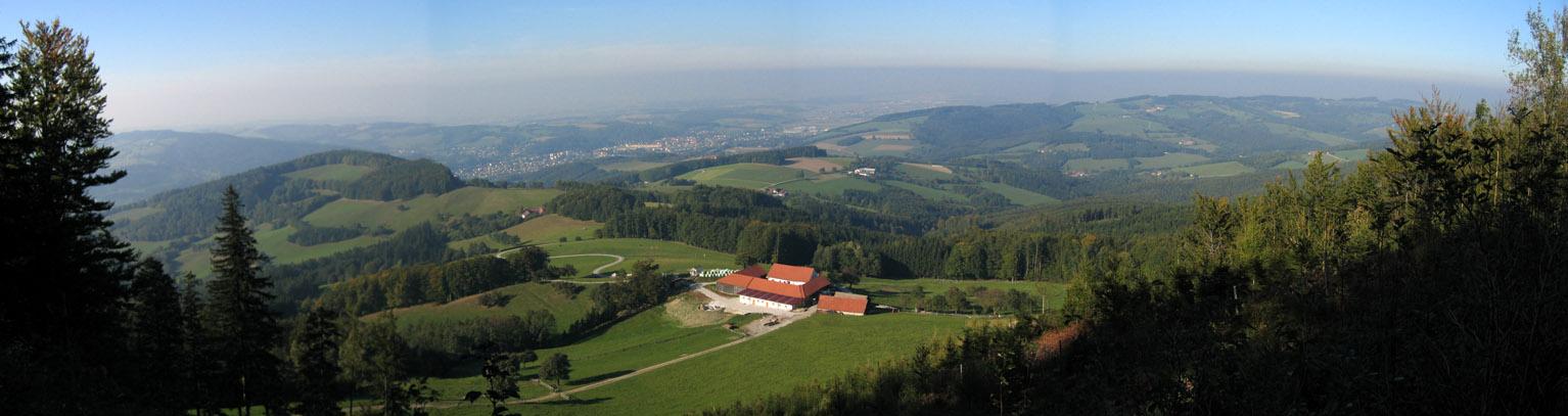 Foto: Climber69 / Wander Tour / Höhenrundwanderung über Rudolfshöhe und Steinwandleiten / Blick kurz vor der Stockerhütte nach Wilhelmsburg / 28.12.2007 21:59:32