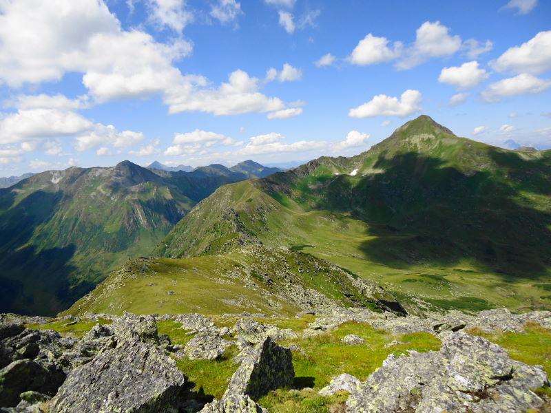 Foto: Günter Siegl / Wander Tour / Aus dem Eselsberggraben auf Schoberspitze und Talkenschrein (2423 m) / Schoberspitze vom Adlereck / Stangeneck aus gesehen / 04.09.2013 21:26:37