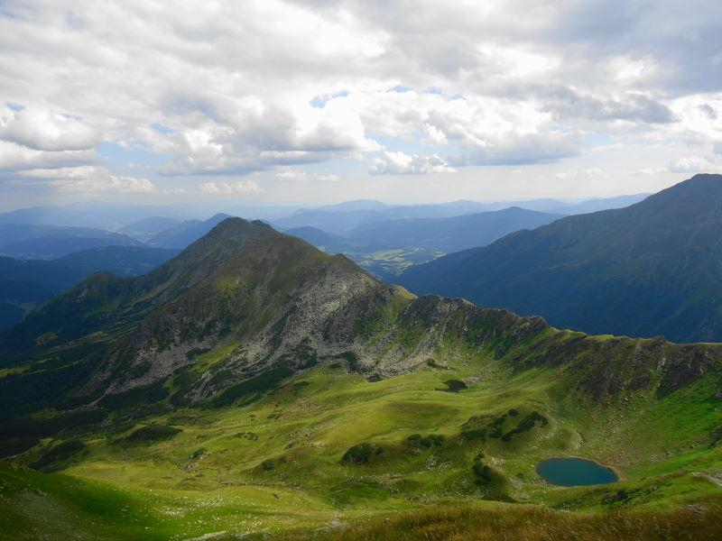 Foto: Günter Siegl / Wander Tour / Aus dem Eselsberggraben auf Schoberspitze und Talkenschrein (2423 m) / Blick zu Adlereck und Stangeneck / 04.09.2013 21:30:20