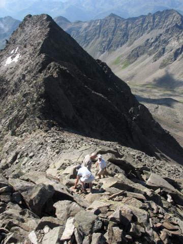 Foto: Wolfgang Lauschensky / Wander Tour / Auf den Lasörling / Abstieg zur Lasörlingscharte / 24.07.2011 17:40:22