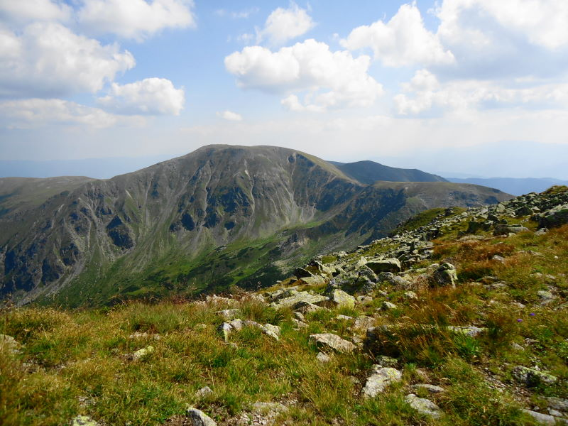 Foto: Günter Siegl / Wander Tour / Großer Ringkogel und Pletzen (2345 m) / Pletzen und Ringkogel vom Sonntagkogel aus gesehen / 27.08.2015 07:57:42