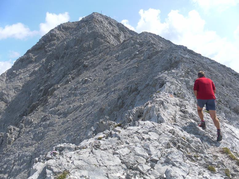 Foto: Wolfgang Lauschensky / Wander Tour / Aus dem Halltal auf die Speckkarspitze / Gipfelgrat / 02.07.2017 13:56:12
