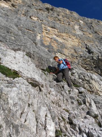 Foto: Wolfgang Lauschensky / Wander Tour / Monte Pelmo / Schrofenkletterei zum Ballband / 01.07.2011 20:58:40