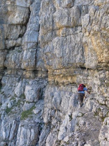Foto: Wolfgang Lauschensky / Wander Tour / Monte Pelmo / erinnert an Brentabänder, aber ohne Sicherungsseil / 01.07.2011 20:57:41