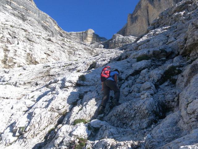 Foto: Wolfgang Lauschensky / Wander Tour / Monte Pelmo / Schrofenrinne zum unteren Kar / 01.07.2011 20:57:28