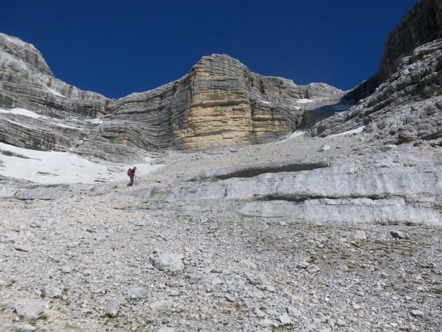 Foto: Wolfgang Lauschensky / Wander Tour / Monte Pelmo / mühsamer sandiger Karanstieg / 01.07.2011 20:57:15