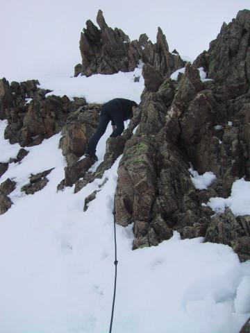 Foto: Wolfgang Lauschensky / Ski Tour / Innere Sommerwand, 3123m - über den Sommerwandferner / teils gesicherter Gratanstieg / 15.02.2012 21:29:28