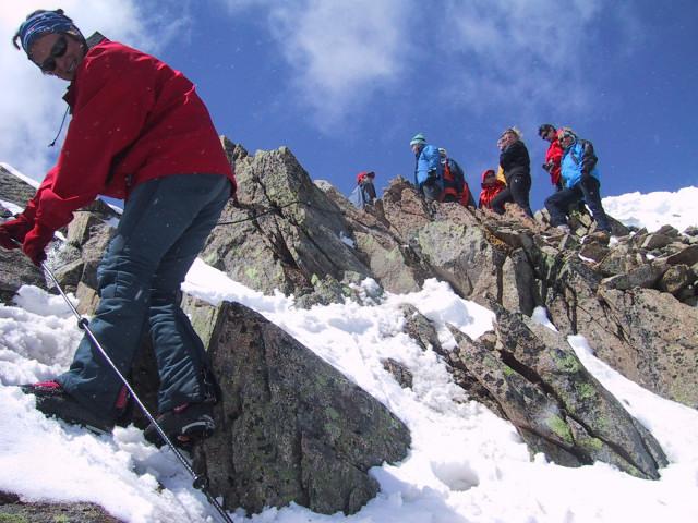 Foto: Wolfgang Lauschensky / Skitour / Innere Sommerwand, 3123m - über den Sommerwandferner / Gipfelgrat / 15.02.2012 21:29:11