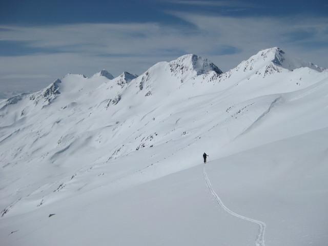 Foto: Wolfgang Lauschensky / Skitour / Kreuzspitze, 3455m - über die Südostflanke / Sennkogel Saykogel Hauslabkogel / 05.02.2012 15:16:31
