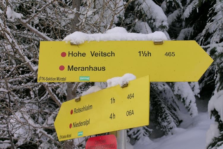 Foto: Andreas Koller / Skitour / Hohe Veitsch, 1981m - Südanstieg/Goassteign-Abfahrt / 16.12.2008 20:34:00