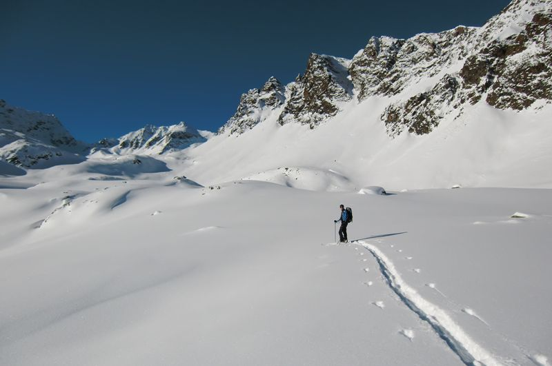 Foto: Thomas Paschinger / Ski Tour / Kuhscheibe, 3189m  / selbst wird gespurt / 12.02.2010 15:53:40
