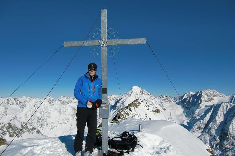 Foto: Thomas Paschinger / Ski Tour / Kuhscheibe, 3189m  / am Gipfel der Kuhscheibe (3188m) / 12.02.2010 15:52:09