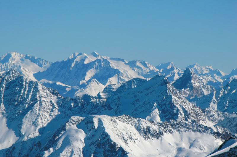 Foto: Thomas Paschinger / Skitour / Kuhscheibe, 3189m  / Blick übers Gschnitztal zum Hochfeiler / 12.02.2010 15:49:10