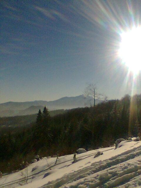 Foto: Surfxandi / Skitour / Unterberg, 1342m / Sicht auf Schneeberg / 19.12.2007 17:00:30