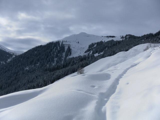 Foto: Wolfgang Lauschensky / Ski Tour / Oberer Gernkogel, 2175m / Streitbergalm mit Blick zum Langeck / 23.01.2013 23:20:06