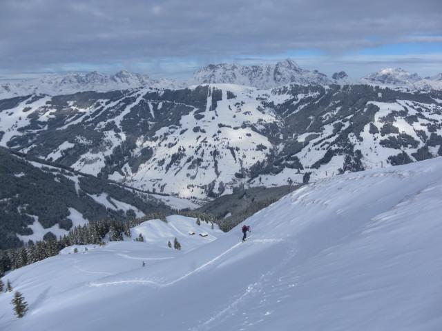 Foto: Wolfgang Lauschensky / Ski Tour / Oberer Gernkogel, 2175m / Westflanke des Langecks / 23.01.2013 23:19:35