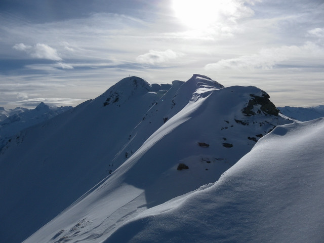 Foto: Wolfgang Lauschensky / Ski Tour / Oberer Gernkogel, 2175m / scharfer Gipfelkamm / 23.01.2013 23:18:11