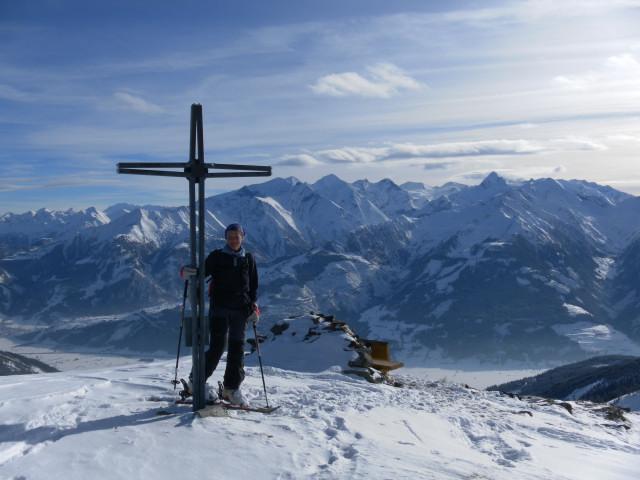 Foto: Wolfgang Lauschensky / Ski Tour / Oberer Gernkogel, 2175m / Blick übers Salzachtal in die Glockner Gruppe Nord / 23.01.2013 23:17:36