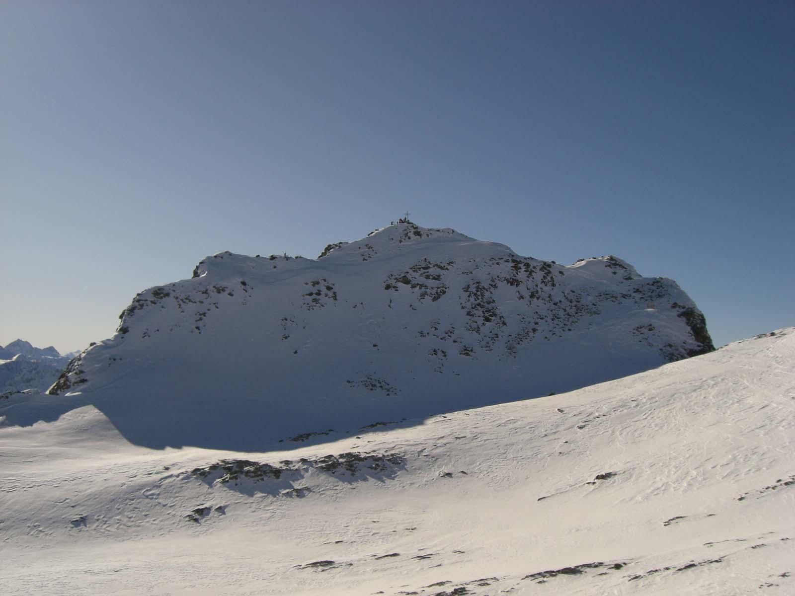 Foto: Thomas Paschinger / Skitour / Zwieselsbacher Roßkogel, 3081m / Gipfelaufbau des Zwieselsbacher Roßkogels / 07.02.2009 13:37:14