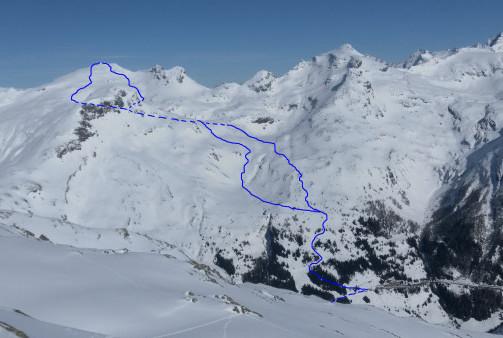 Foto: Wolfgang Lauschensky / Ski Tour / Hochgasser, 2922m / Hochgasser: Anstiegs- und Abfahrtsvarianten / 10.03.2013 17:15:09