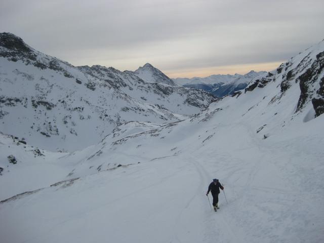 Foto: Wolfgang Lauschensky / Ski Tour / Hochgasser, 2922m / Rückblick zum Grünen See / 10.03.2013 17:13:55