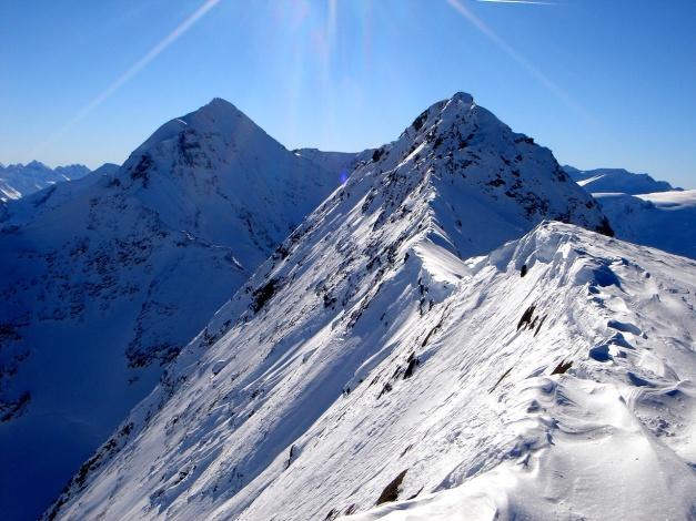 Foto: Manfred Karl / Ski Tour / Zwingscharte, 2760m - bzw. Hoher Tenn - Schneespitze, 3317m / Bergspitze und Wiesbachhorn / 21.12.2008 16:30:59