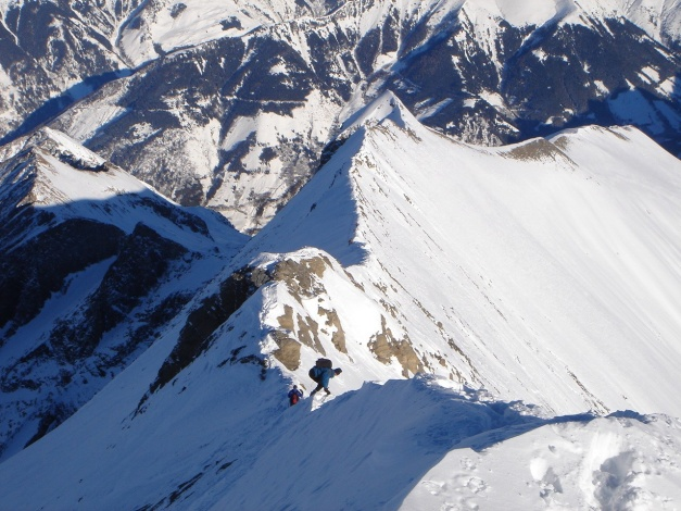 Foto: Manfred Karl / Ski Tour / Zwingscharte, 2760m - bzw. Hoher Tenn - Schneespitze, 3317m / 21.12.2008 16:28:14
