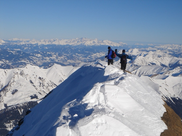 Foto: Manfred Karl / Ski Tour / Zwingscharte, 2760m - bzw. Hoher Tenn - Schneespitze, 3317m / 21.12.2008 16:27:48