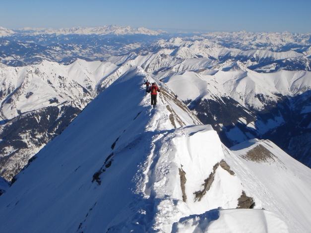 Foto: Manfred Karl / Ski Tour / Zwingscharte, 2760m - bzw. Hoher Tenn - Schneespitze, 3317m / 21.12.2008 16:27:02
