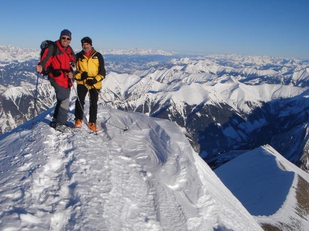 Foto: Manfred Karl / Ski Tour / Zwingscharte, 2760m - bzw. Hoher Tenn - Schneespitze, 3317m / 21.12.2008 16:25:42