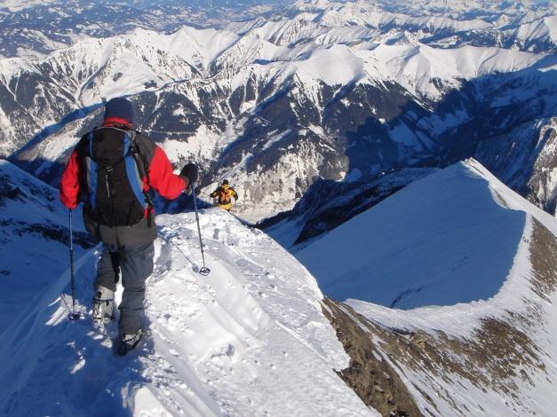 Foto: Manfred Karl / Ski Tour / Zwingscharte, 2760m - bzw. Hoher Tenn - Schneespitze, 3317m / 21.12.2008 16:25:28