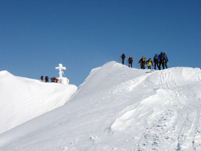 Foto: Grasberger Gerhard / Ski Tour / Großvenediger, 3666m - von Norden / Gipfel(grat). / 04.05.2009 14:23:09