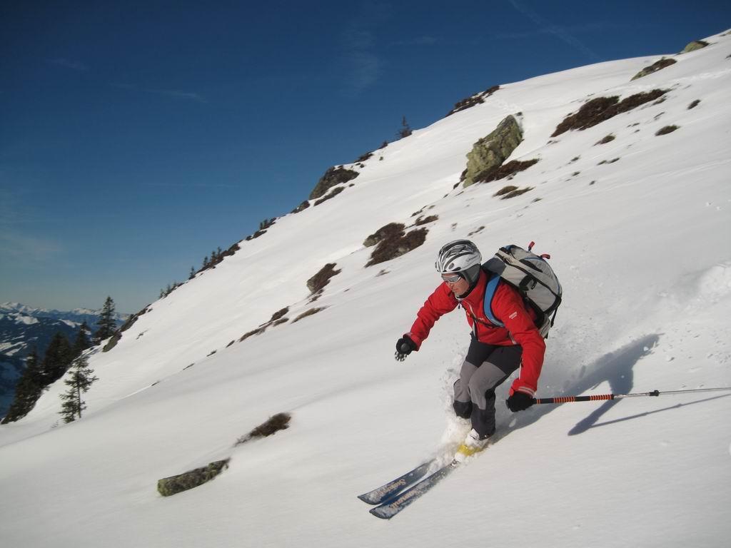 Foto: Heidi Schützinger / Ski Tour / Sonnspitze, 2062m - von Süden / Schöne Pulverschwünge am letzten Tag im