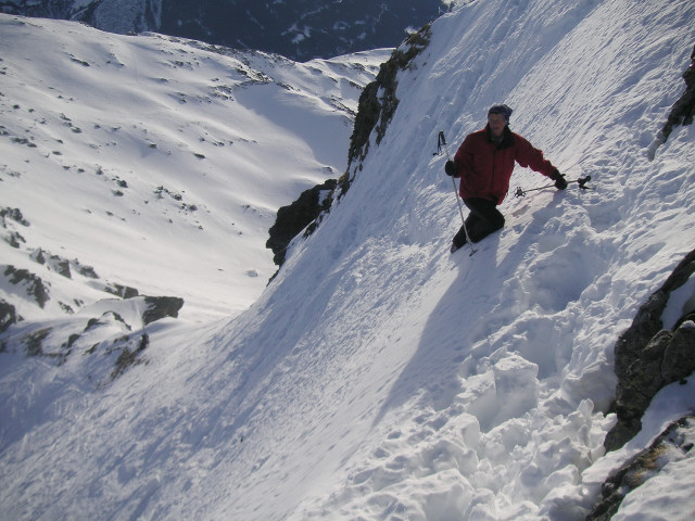 Foto: Wolfgang Lauschensky / Skitour / Rastkogel, 2761m / steiles Gipfelfinale / 15.01.2012 17:51:46